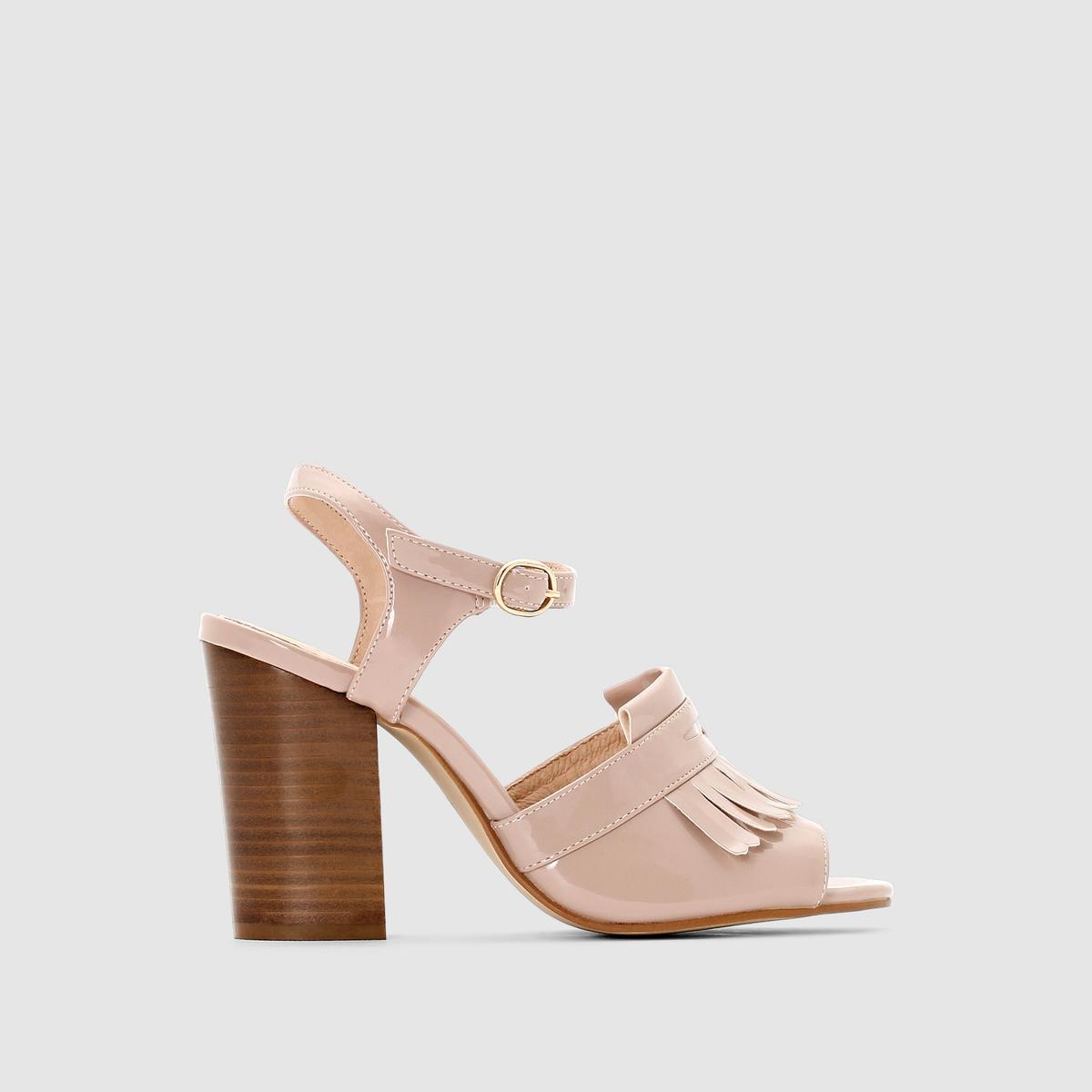 Босоножки на высоком каблуке MADEMOISELLE RОцените комфорт и стильную бахрому модели. Застежка на ремешок.<br><br>Цвет: розовый<br>Размер: 35