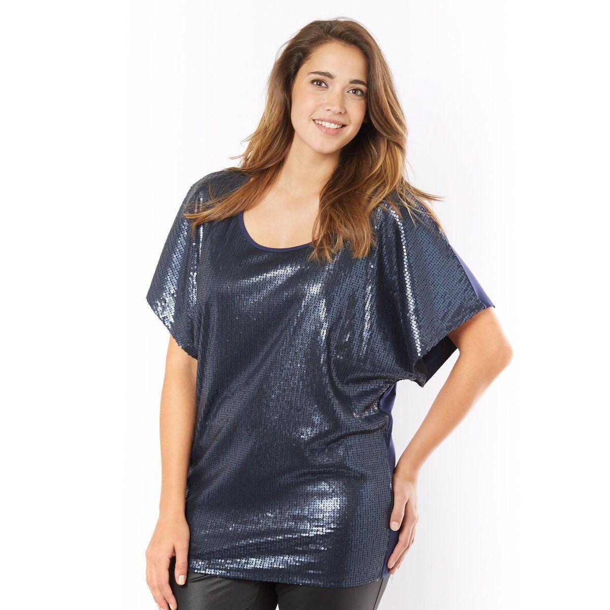 T-shirt à sequins mats
