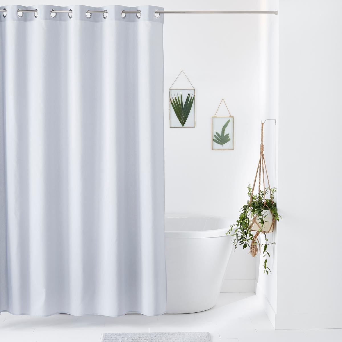 Штора LaRedoute Для душа из однотонного полотна SCENARIO 200 x 120 см серый