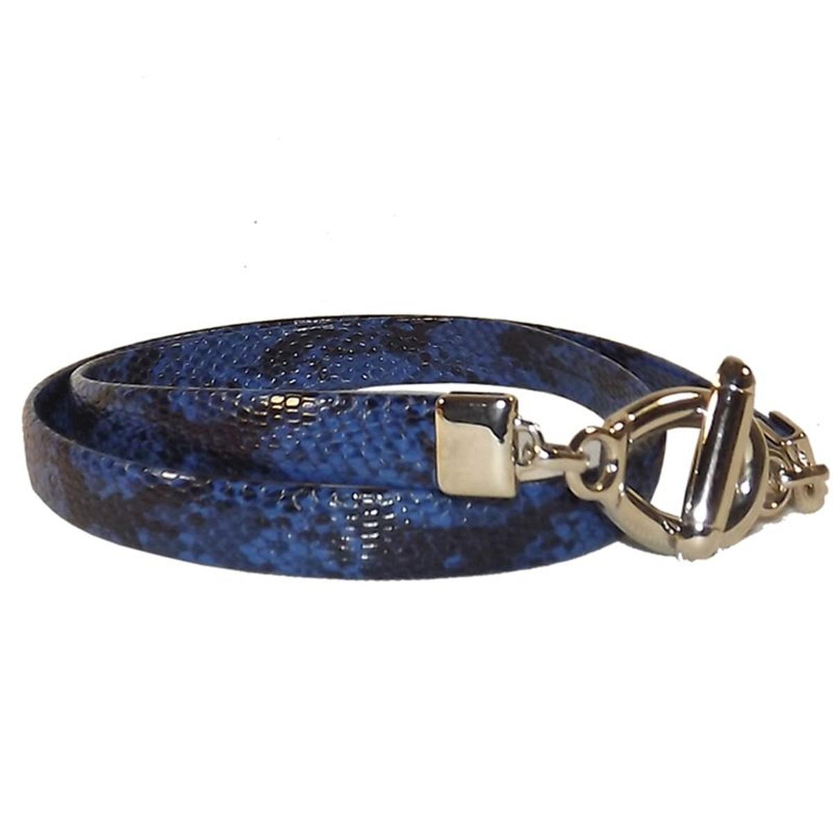 91260ed98dfb CHAPEAU-TENDANCE Ceinture serpent bleue