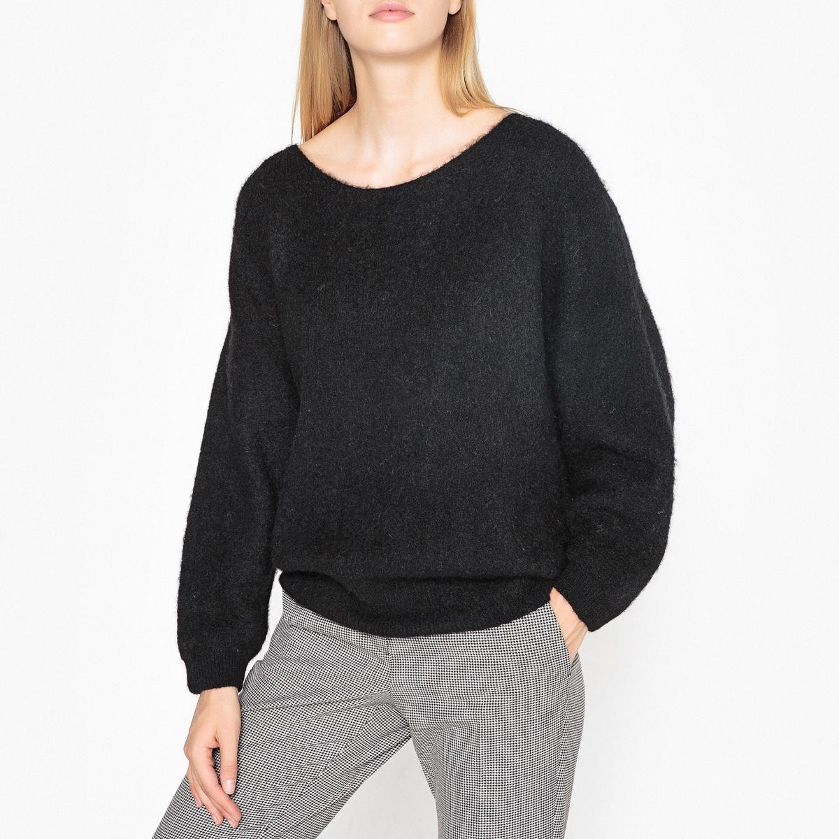Пуловер трикотажный с вырезом-лодочкой WOXILEN