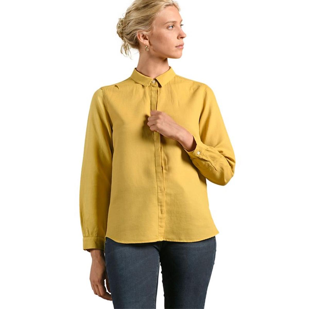 Chemise jaune dos boutonné