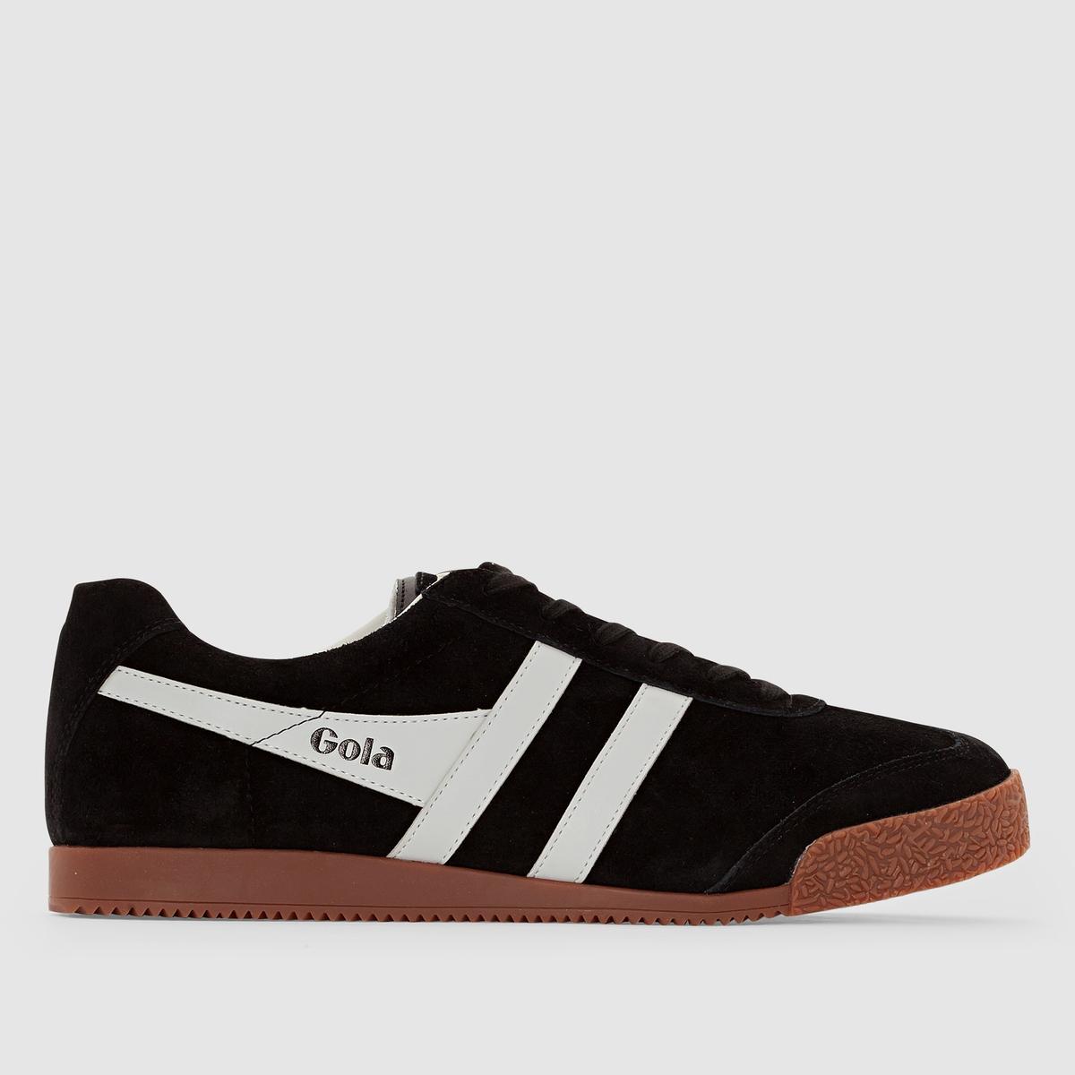 Кеды низкие - GOLA HARRIER SUEDEПопулярная во всем мире марка Gola отметила свой 100-ый юбилей и продолжает радовать нас модной, яркой, стильной и комфортной городской обувью! Дизайн прямиком из 1968 г., кожаный верх и комфорт повседневной носки, - модель Harrier добавит нотку винтажности Вашему модному образу.<br><br>Цвет: черный/серый<br>Размер: 44.45