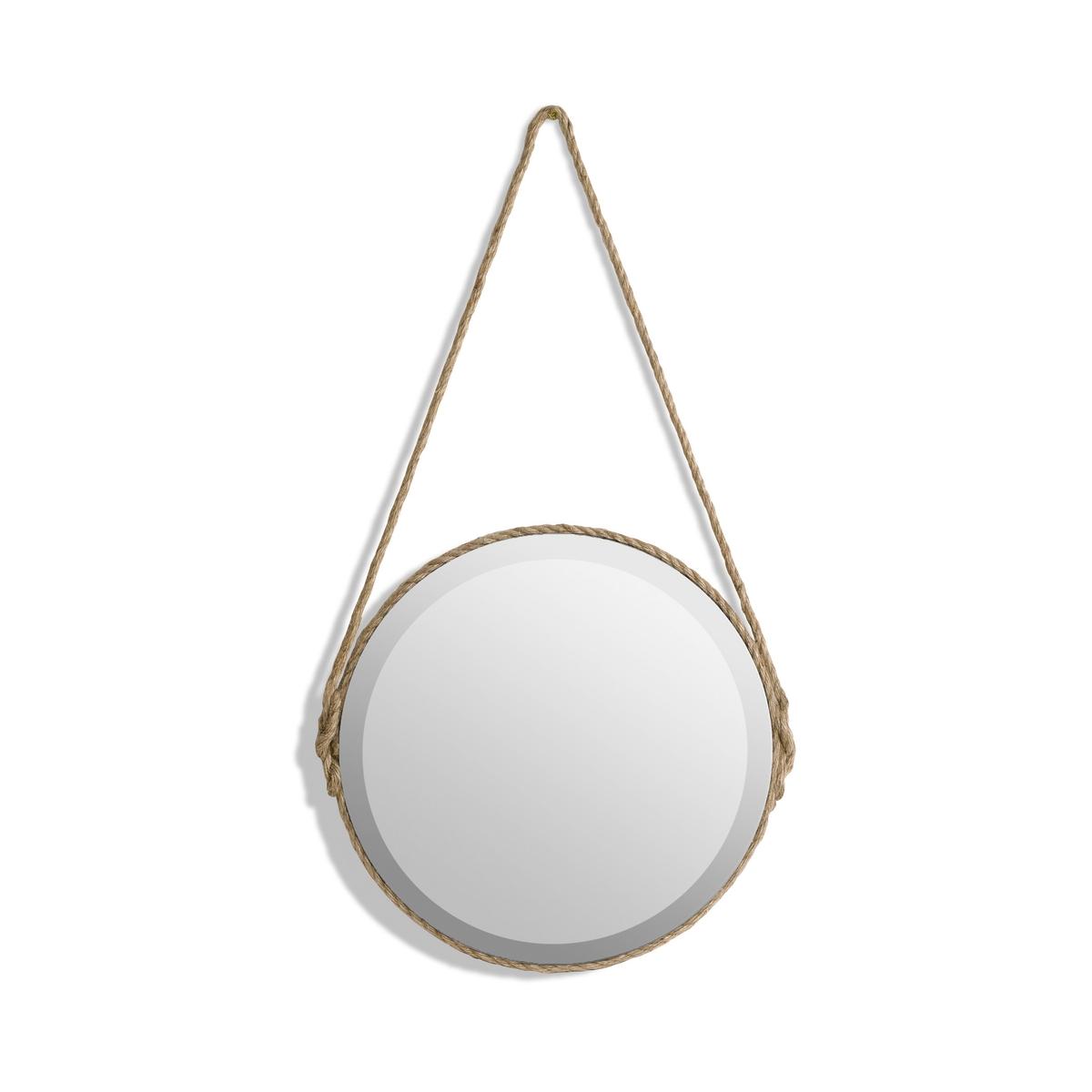 Зеркало Lien, диаметр 35 смХарактеристики :- Отделка цветным шнуром из хлопка, шнур для подвешивания.- Задняя панель из МДФ.Размеры :- Диаметр 35 x высота 64,5 см.- Зеркало, диаметр 35 см<br><br>Цвет: серо-бежевый