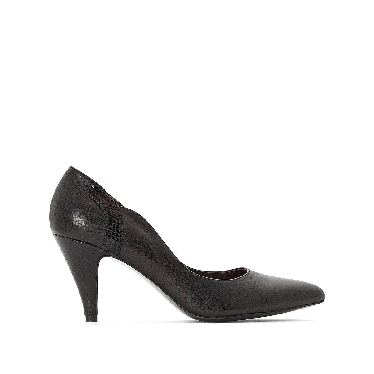 Imagen principal de producto de Zapatos de tacón de piel con detalle de corte ondulado - Anne weyburn