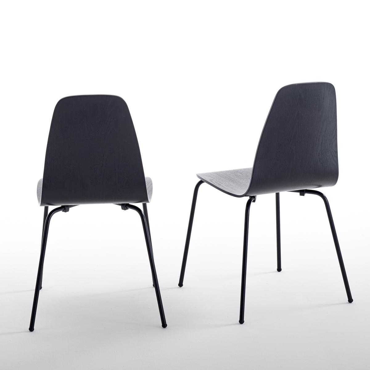 Комплект из 2 стульев в винтажном стиле, Biface2 стула Biface : винтажный стиль, который понравится в столовой, комнате или на кухне.Для существенной экономии пространства стулья Biface можно укладывать в штабель. Характеристики стульев Biface :Сиденье из многослойной гевеи, покрытой шпоном ясеня и нитролаком черного цвета : слегка заметные прожилки дерева.Ножки из металлической трубы, покрытой эпоксидной краской и лаком черного цвета. Откройте для себя всю коллекцию Biface на сайте laredoute.ru.Размеры стульев Biface :Общие :Ширина : 40 смВысота : 83 смГлубина : 42 смСиденье :Высота 45 смРазмеры и вес упаковки :1 упаковкаШир. 68 x Выс. 30 x Гл. 44 см10 кг:. !! .<br><br>Цвет: черный<br>Размер: единый размер