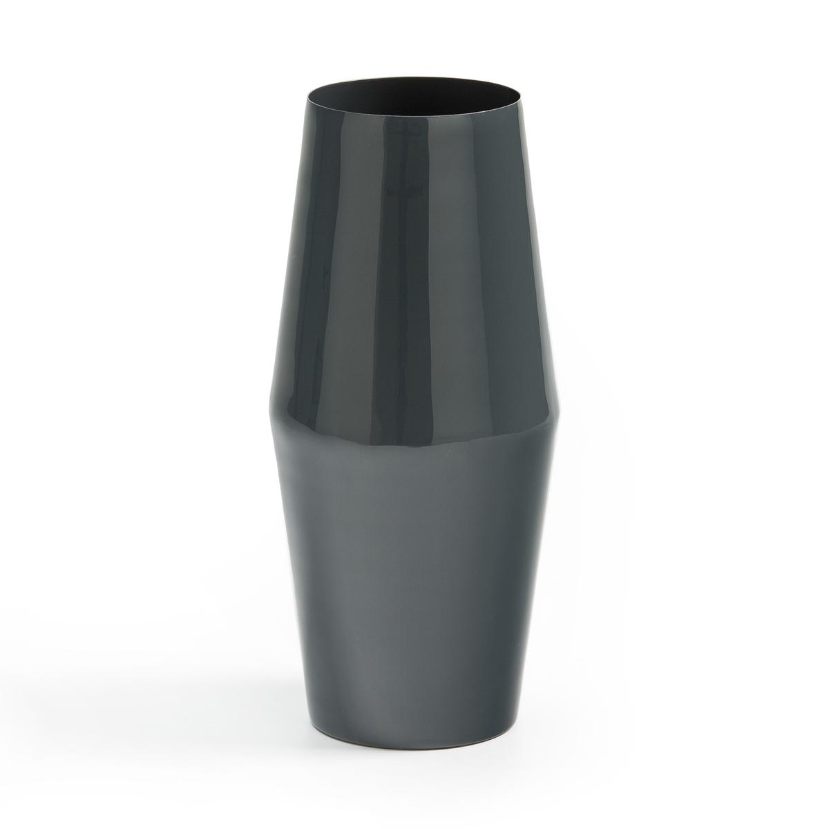 Ваза La Redoute Из металла в стиле -х В см Plana единый размер серый ваза керамическая 14 х 10 х 38 см