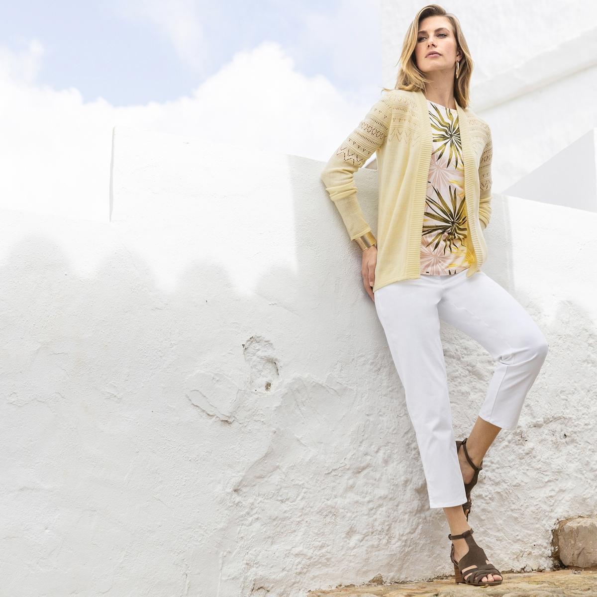 Imagen adicional 2 de producto de Pantalón pesquero bordado, algodón stretch - Anne weyburn