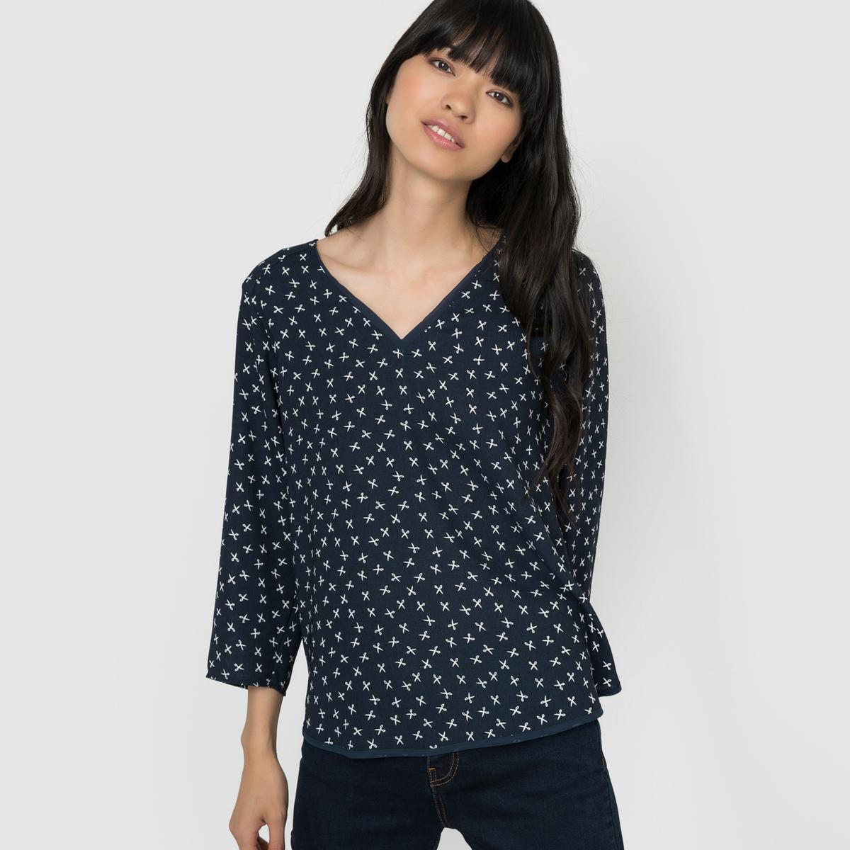 Блузка с длинными рукавами и V-образным вырезом VMSCISSOR