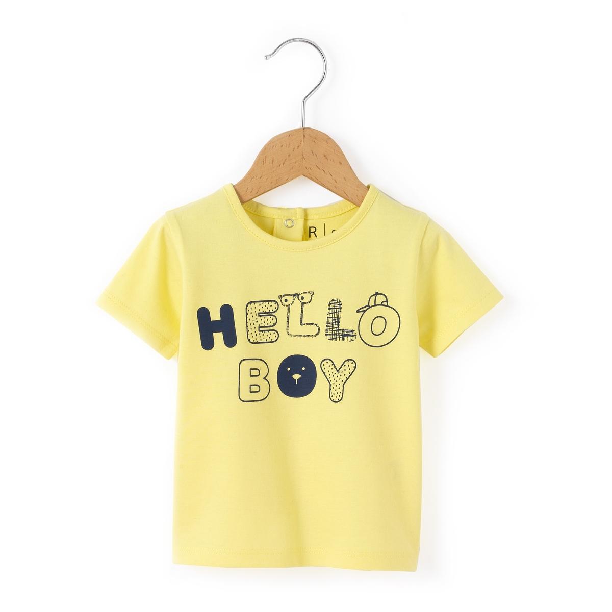 Футболка ''Hello Boy'' 1 мес-3 лет от La Redoute