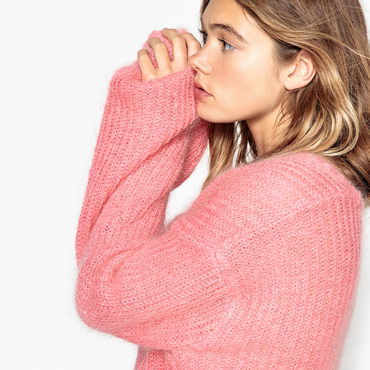 Пуловер покроя оверсайз из мохера