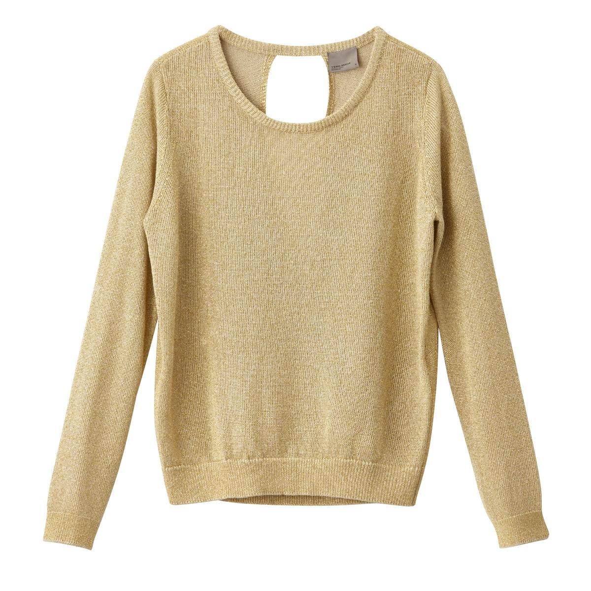 Пуловер с круглым вырезомОписание:Детали  • Пуловер прямого покроя •  Длинные рукава •  Круглый вырез •  Плотный трикотажСостав и уход •  80% вискозы, 20% металла •  Инструкцию по уходу смотреть на бирке<br><br>Цвет: розовый,экрю<br>Размер: XL.XS