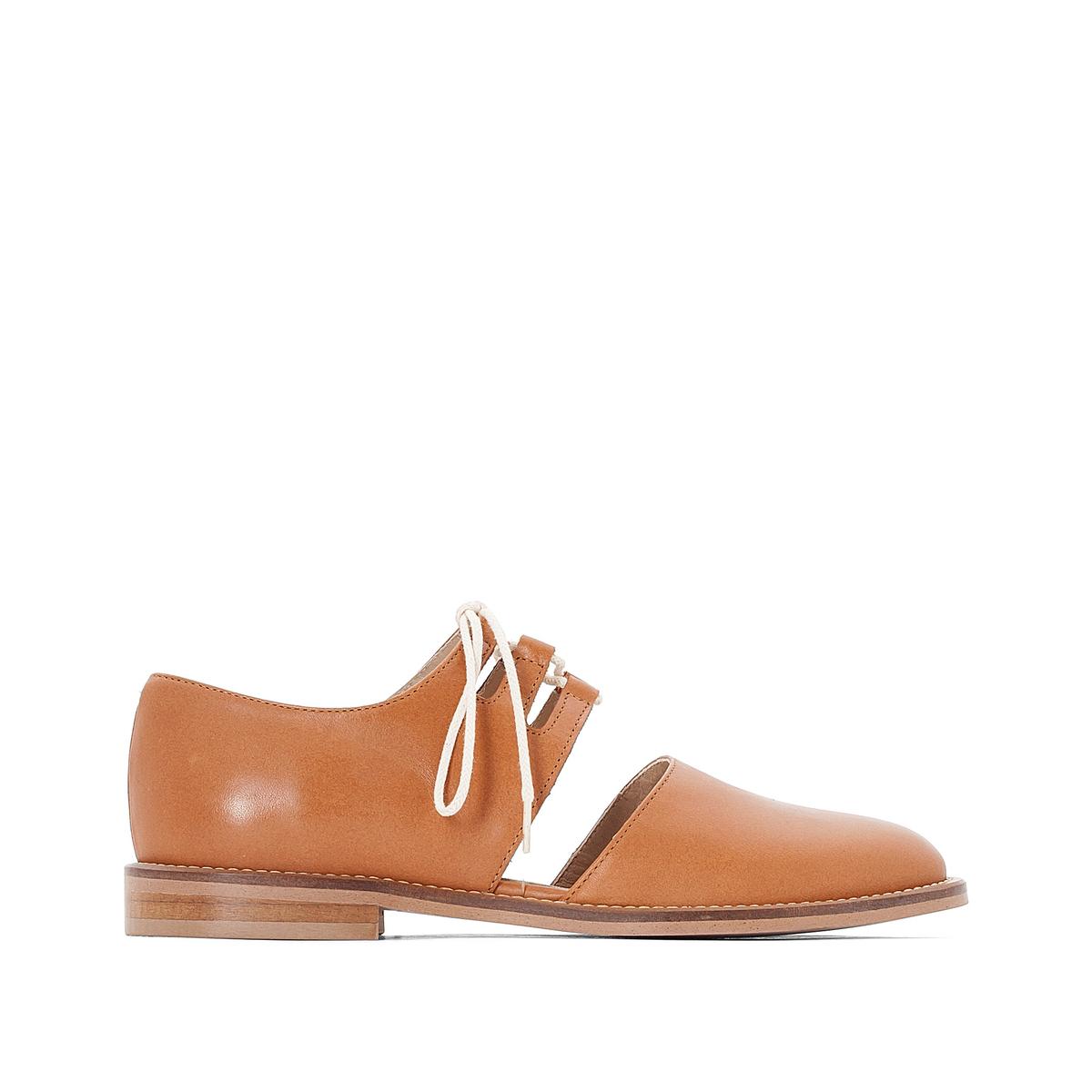 Ботинки-дерби кожаные DaironВерх : кожа   Подкладка : кожа   Стелька : кожа   Подошва : эластомер   Высота каблука : 1 см   Форма каблука : плоский каблук   Мысок : закругленный мысок   Застежка : шнуровка<br><br>Цвет: коньячный,черный