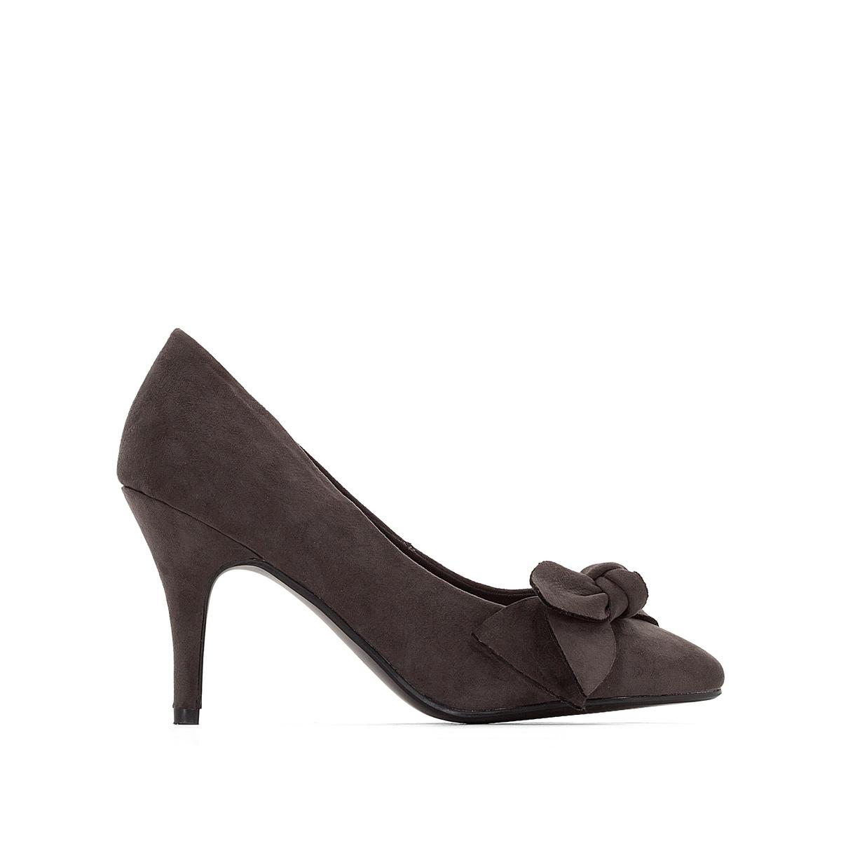 Туфли с бантом для широкой стопы 38-45