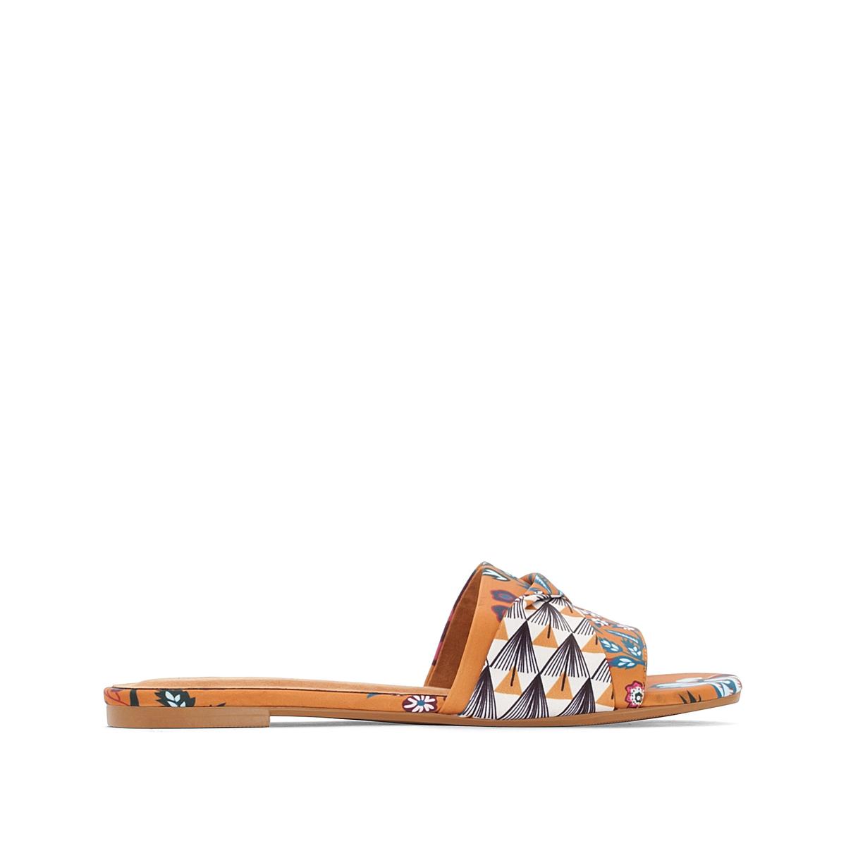Туфли-сабо с принтом