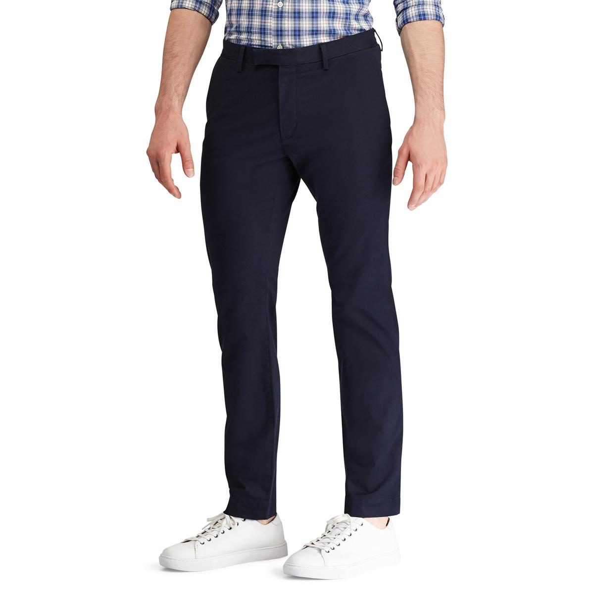 Брюки La Redoute Чинос узкого покроя стрейч 30 синий джинсы la redoute стретч узкого покроя hatch 32 34 синий