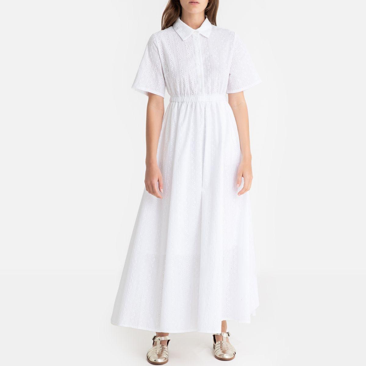 Robe longue à manches courtes