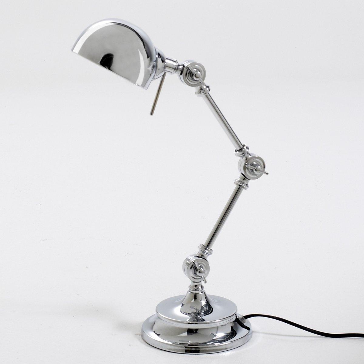 Лампа настольная из металла в промышленном стиле, KikanОписание настольной лампы из металла в промышленном стиле Kikan :Раздвижной кронштейн из 3 регулируемых шарниров. Патрон E14 для компактной флуоресцентной лампы макс. 7 Вт (продается отдельно). Настольная лампа из металла в промышленном стиле совместима с лампами класса энергопотребления : A.  Характеристики настольной лампы из металла в промышленном стиле Kikan :Из металлаХромированное покрытие черного цвета или цвета синий деним. Всю коллекцию светильников вы можете найти на сайте laredoute.ru.  Размеры настольной лампы из металла в промышленном стиле Kikan :Подставка :Диаметр : 16 смАбажур : Диаметр : 11,5 смОбщие размеры :Высота : 40 см.<br><br>Цвет: серый хромированный,черный