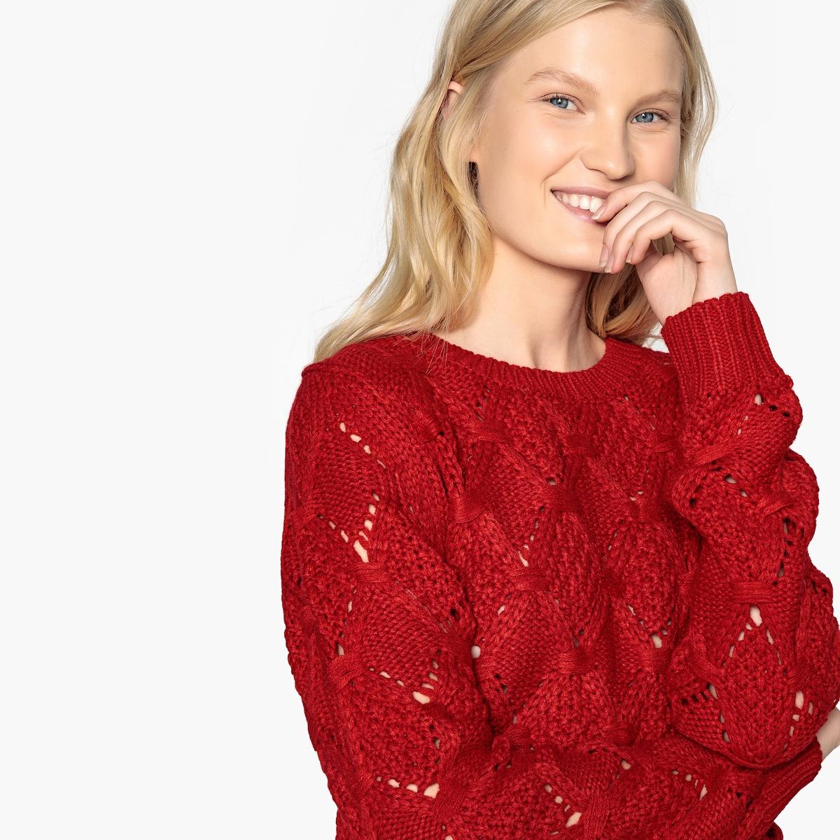 Пуловер La Redoute С круглым вырезом из плотного трикотажа L красный пуловер la redoute с круглым вырезом из плотного трикотажа 3xl бежевый