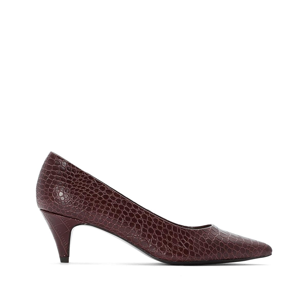 Туфли La Redoute С заостренным мыском с крокодиловым принтом 36 каштановый туфли la redoute на среднем каблуке с питоновым принтом 36 каштановый