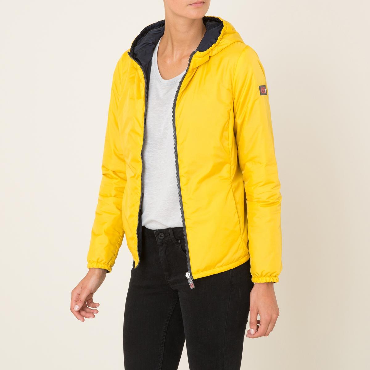 Куртка короткая, двусторонняяКороткая куртка OOF - двусторонняя модель. С капюшоном . Высокий воротник. Приталенная модель за счёт отрезных деталей. Скрытые боковые карманы. Застежка на молнию. Эластичные манжеты.Состав и описание Материал : 100% полиамидМарка : OOF<br><br>Цвет: желтый/ серый