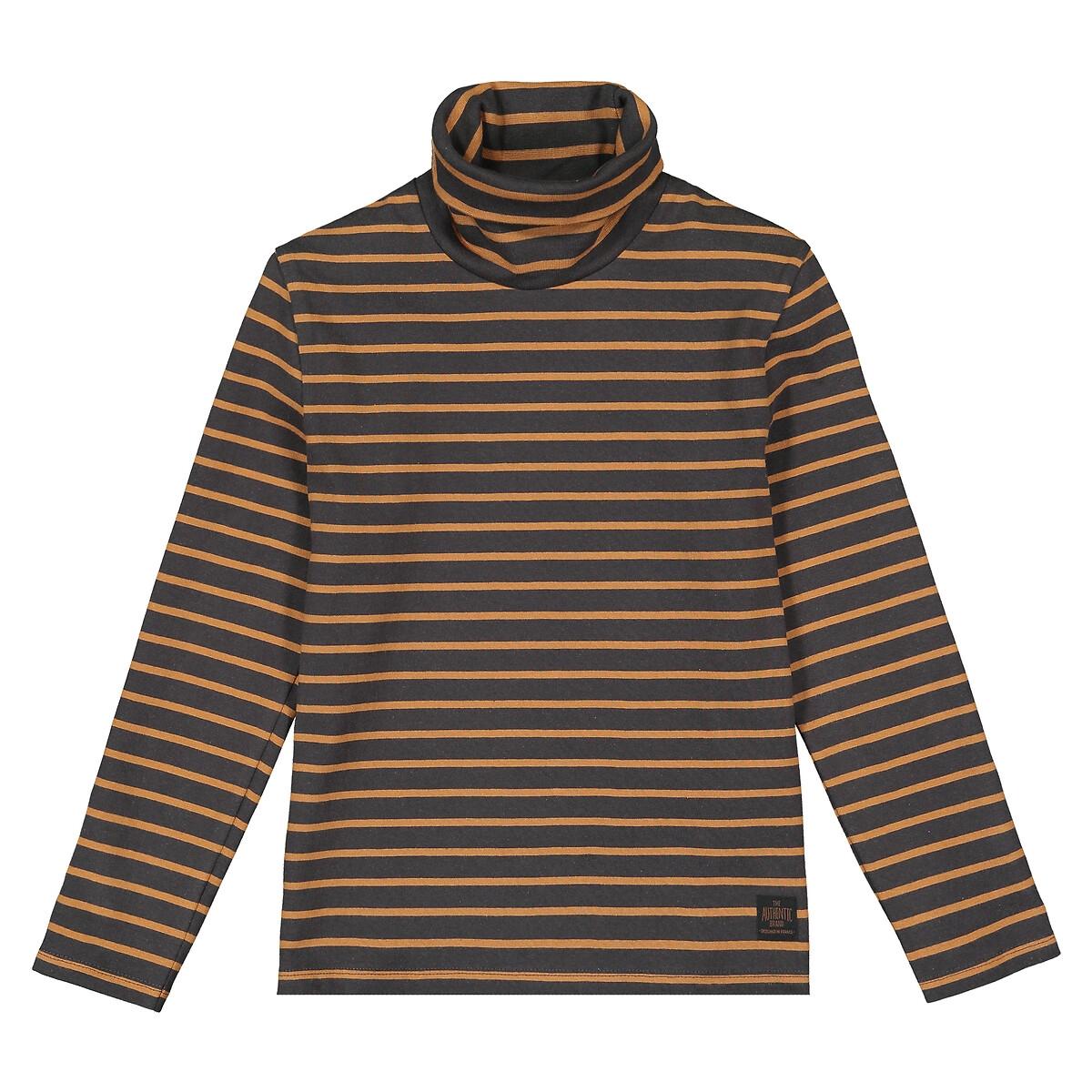 Пуловер LaRedoute Тонкий из биохлопка 3-12 лет 4 года - 102 см серый