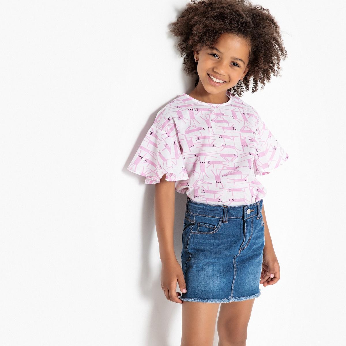 Блузка La Redoute С принтом кошки 12 лет -150 см другие пижама la redoute с шортами и цветочным принтом 12 лет 150 см другие