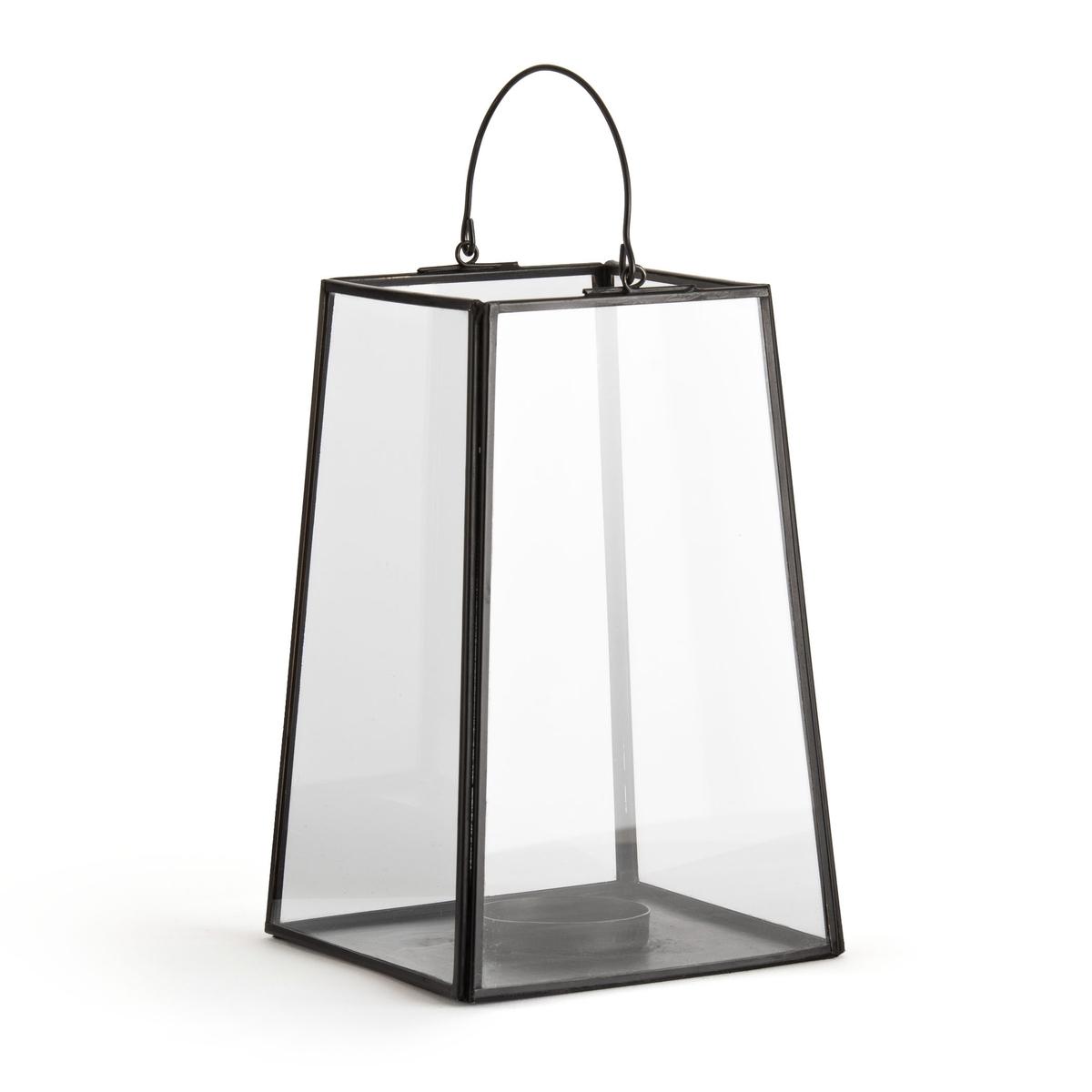 Подсвечник LaRedoute Из стекла и латуни или металла черного цвета Uyova единый размер черный