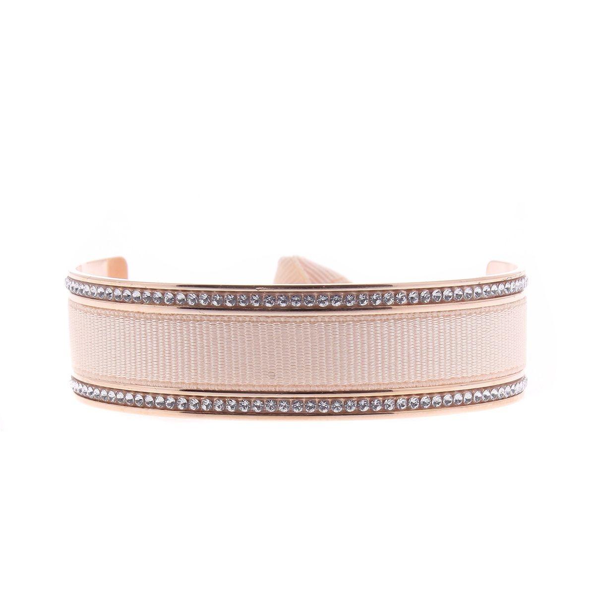 Bracelet LES INTERCHANGEABLES en Tissu Rose