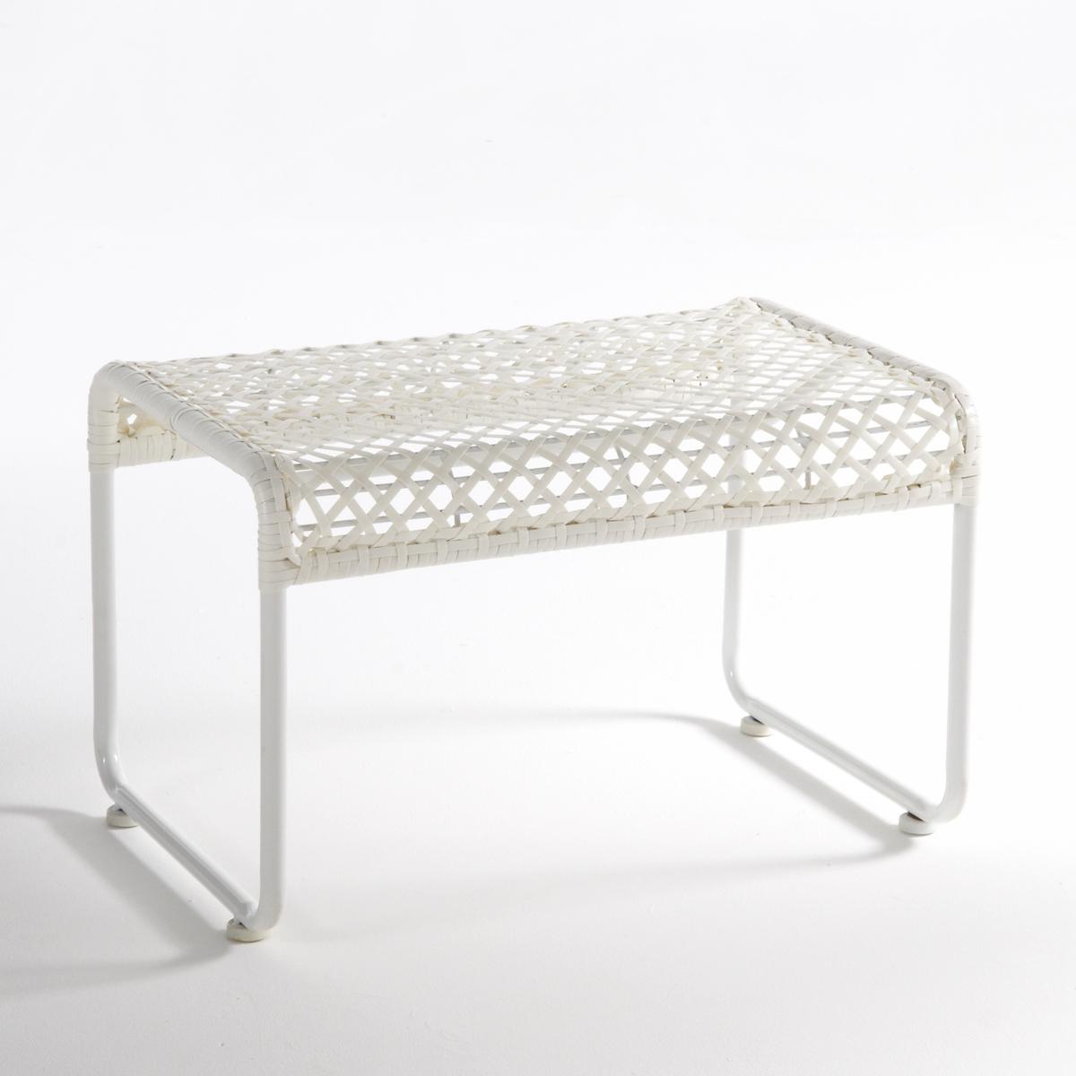 Опора для ног или табурет для сада, LeygilОпора для ног или табурет для сада Leygil. Атмосфера отдыха или коктейльная вечеринка на террасе или балконе, табурет для сада или опора для ног Leygil станет необходимым предметом мебели для лета. Не забудьте заказать кресло того же комплекта из коллекции Leygil.Характеристики опоры для ног или табурета для сада Leygil :Сиденье и спинка из гладких плетеных полимерных волокон.Каркас из металлической трубки диаметром 19 мм, покрытие эпоксидной краской.Кресло того же комплекта представлено на сайте laredoute.ruВсю коллекцию для сада, а также всю коллекцию Leygil вы можете найти на сайте laredoute.ruРазмеры опоры для ног или табурета для сада Leygil :Общие размерыДлина : 60 смВысота : 38 смГлубина : 40 смСиденье : В.38 смРазмеры и вес упаковки:1 упаковка64 x 42 x 44 см 3,1 кгДоставка:Товар может быть доставлен до двери по предварительной договоренности.Продается в собранном виде.     Внимание! Убедитесь, что доставка товара возможна, учитывая его габариты (проходит в дверные проемы, лифты и по лестницам) .<br><br>Цвет: белый,черный