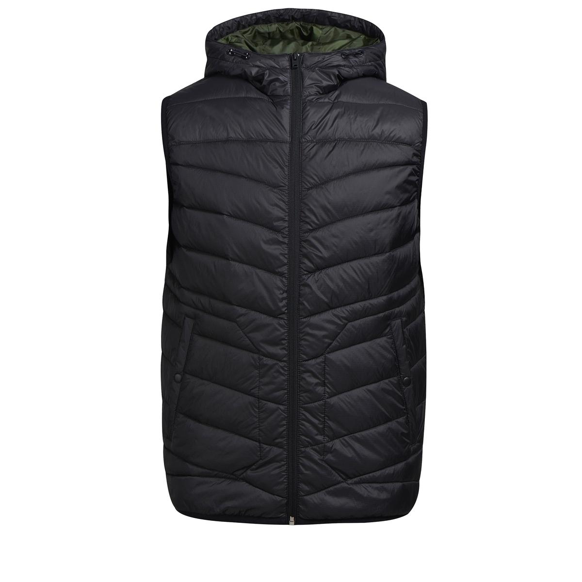 Куртка стеганаяДетали •  Длина : укороченная   •  Воротник-стойка •  Застежка на молниюСостав и уход •  100% полиамид  •  Следуйте советам по уходу, указанным на этикетке<br><br>Цвет: черный<br>Размер: XL