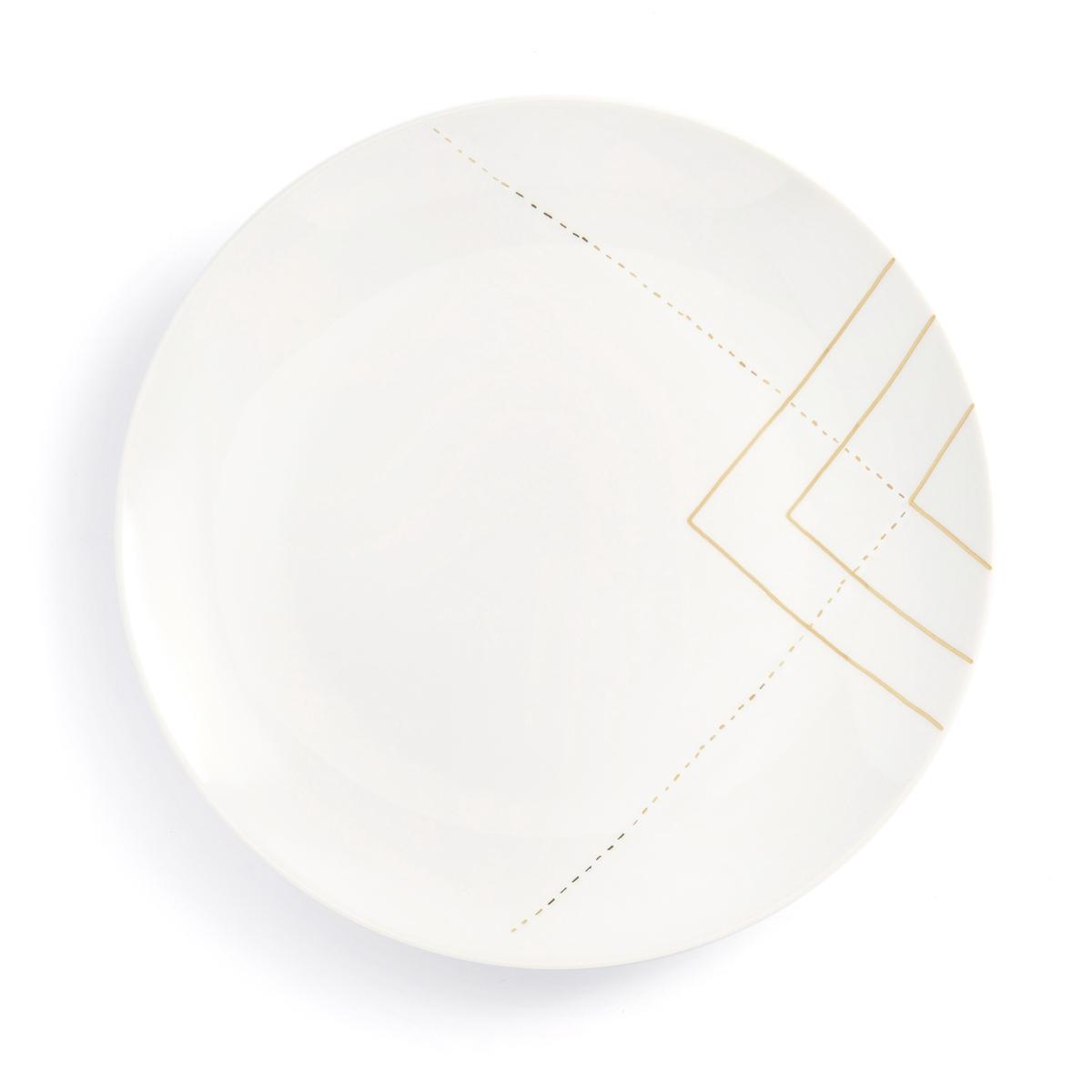 Комплект из 4 тарелок, SOLAINE LaRedoute La Redoute единый размер белый 3 настенных la redoute вешалки с крючками agama единый размер белый