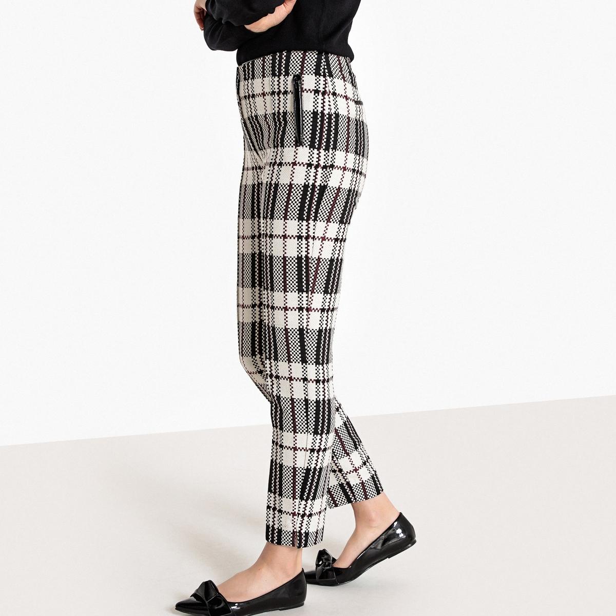 Брюки узкие дудочки с жаккардовым рисунком брюки узкие дудочки