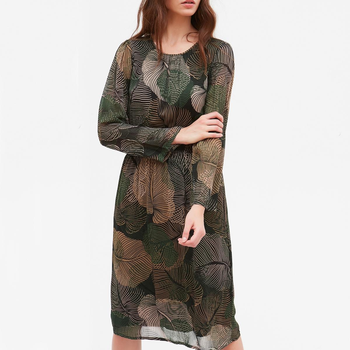 Платье с рисунком и длинными рукавами ROUSSEL платье incity incity in002ewvqa57