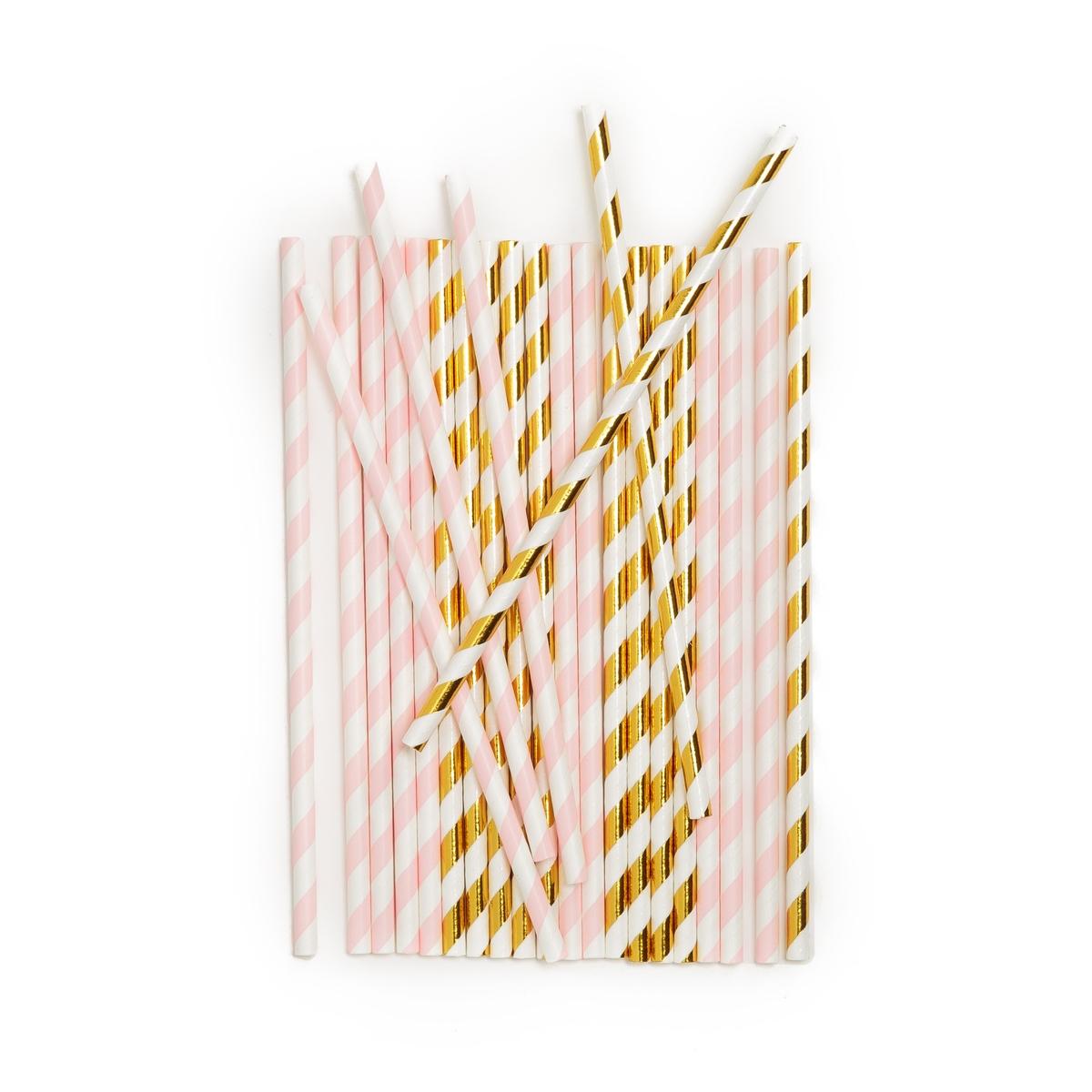 Трубочки из картона F?LIA  (25 шт.)Описание:Комплект из 25 картонных трубочек La Redoute Interieurs с праздничным рисунком.Характеристики 25 трубочек : •  Картон •  Одноразовые трубочки •  Розового цвета с золотистым рисункомРазмеры 25 трубочек: •  Высота : 15,5 см.Всю коллекцию столового декора вы найдете на laredoute.<br><br>Цвет: рисунок золотистый