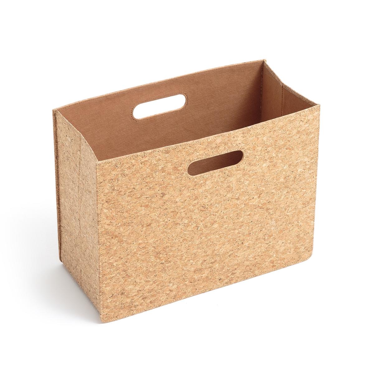 Коробка для журналов из пробкиОписание:Коробка для журналов из пробки. Коробка для журналов из натурального материала добавит элегантности вашему интерьеру и будет очень практичной для хранения ваших журналов…Характеристики коробки для журналов : : 0px font-size: 12px line-height: normal font-family: Avenir -webkit-text-stroke-width: initial -webkit-text-stroke-color: rgb(0, 0, 0)&gt;Коробка для журналов из натуральной пробкиСборная конструкция с ручками по бокамВнутренняя подкладка из полиэстераРазмеры коробки для журналов :В.30 x 39,5 x 19 смРасцветка : Натуральный цветРазмеры и вес ящика :42 x 5,5 x 32 см, 1,3 кг<br><br>Цвет: серо-бежевый