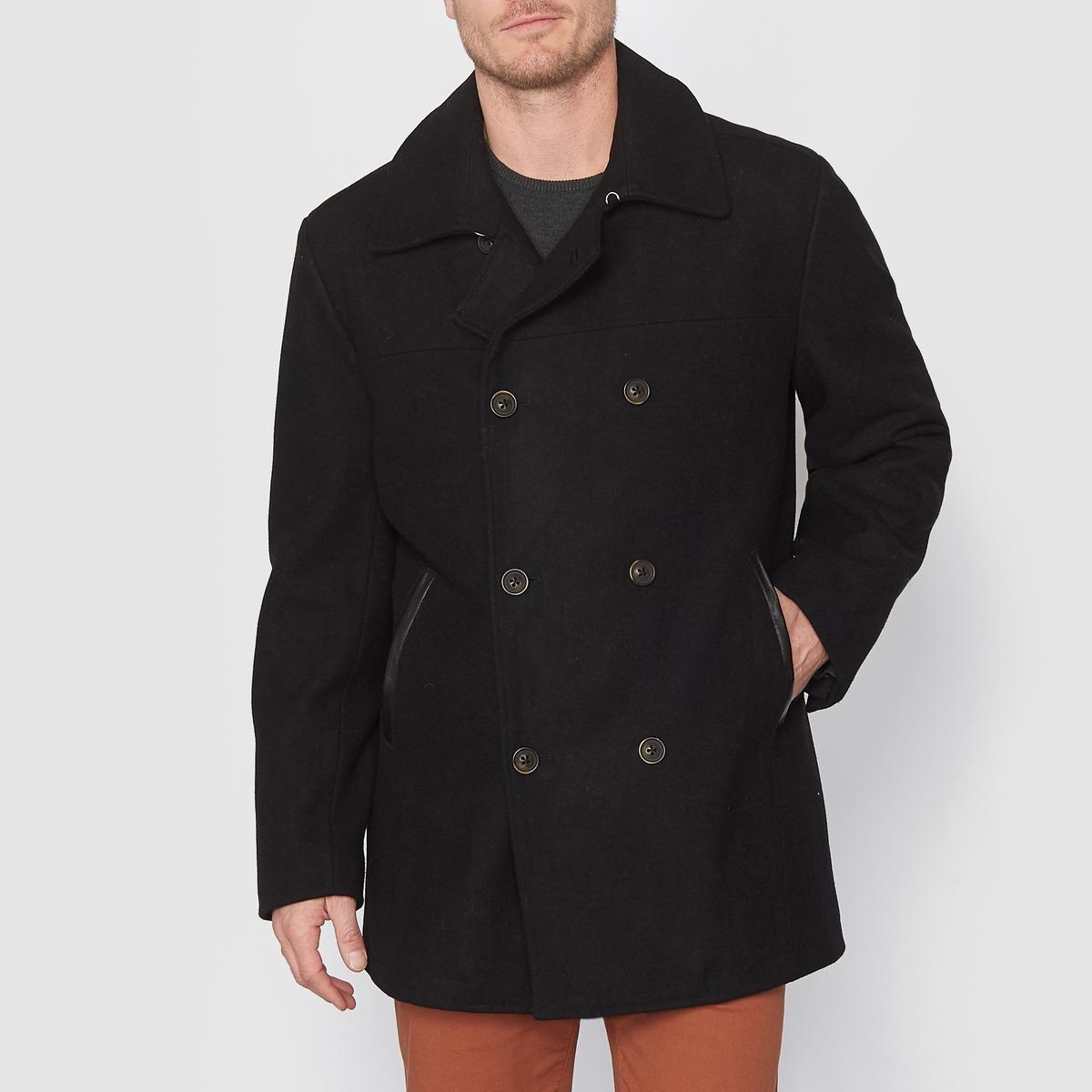 Бушлат из шерстяного драпа пальто зимнее из шерстяного драпа
