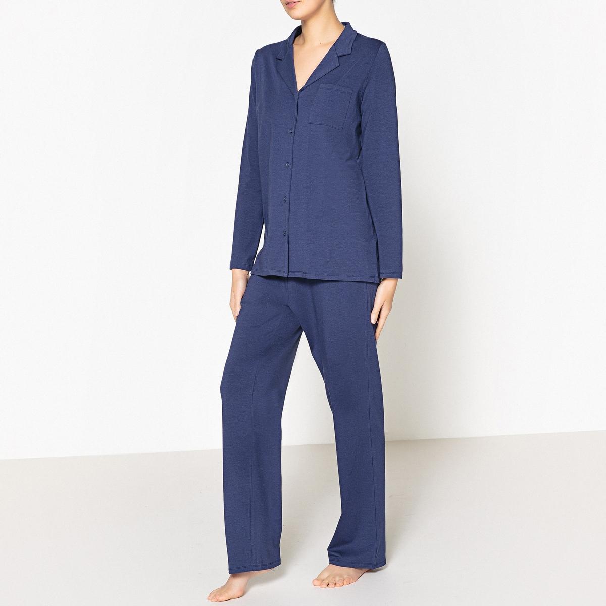 Пижама с рубашкойОписание:Пижама в мужском стиле. В обновленном дизайне, который будет актуален еще долго ! Удобная для сна и отдыха .Детали.•  Пижама с рубашкой прямого покроя . •  Накладной карман спереди, эластичный пояс с завязками . •  Длина : вверху : 70 см, длина по внутр.шву : 76 смСостав и уход •  Материал : 47% хлопка, 47% модала, 6% эластана . •  Машинная стирка при 30° с вещами схожих цветов. •  Стирать и гладить с изнаночной стороны. •  Машинная сушка на умеренном режиме. •  Гладить при низкой температуре.<br><br>Цвет: синий морской