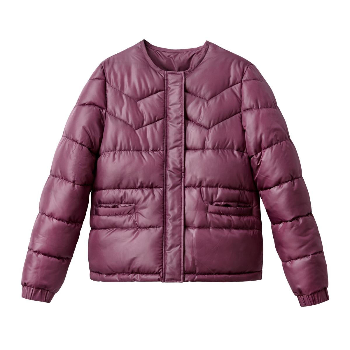 Куртка с круглым вырезомОписание:Вам придется по вкусу дизайн этой куртки, которая легко сочетается с любой одеждой . Это незаменимая вещь на зимний период .Детали •  Длина : укороченная  •  Круглый вырез •  Застежка на молниюСостав и уход •  100% полиэстер •  Подкладка : 100% полиэстер • Не стирать •  Любые растворители / не отбеливать   •  Не использовать барабанную сушку  •  Не гладить •  Длина : 62 см<br><br>Цвет: фиолетовый,черный<br>Размер: 52 (FR) - 58 (RUS).38 (FR) - 44 (RUS).46 (FR) - 52 (RUS).42 (FR) - 48 (RUS).38 (FR) - 44 (RUS).52 (FR) - 58 (RUS).50 (FR) - 56 (RUS).44 (FR) - 50 (RUS).42 (FR) - 48 (RUS).36 (FR) - 42 (RUS)