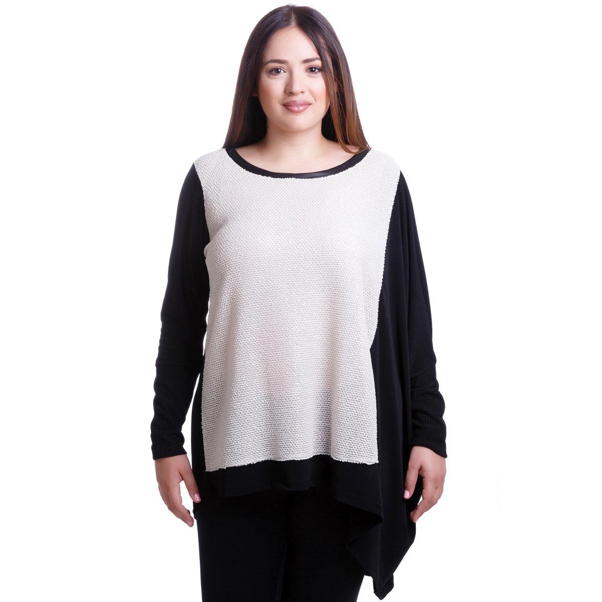Блузка асимметричного покроя с длинными рукавами от MAT FASHION