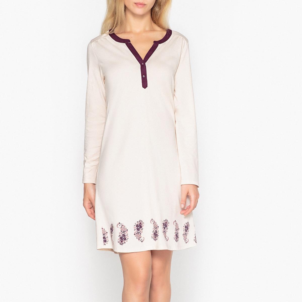 Nachthemd | Bekleidung > Nachtwäsche > Nachthemden | Beige | Baumwolle - Ab | La Redoute Collections