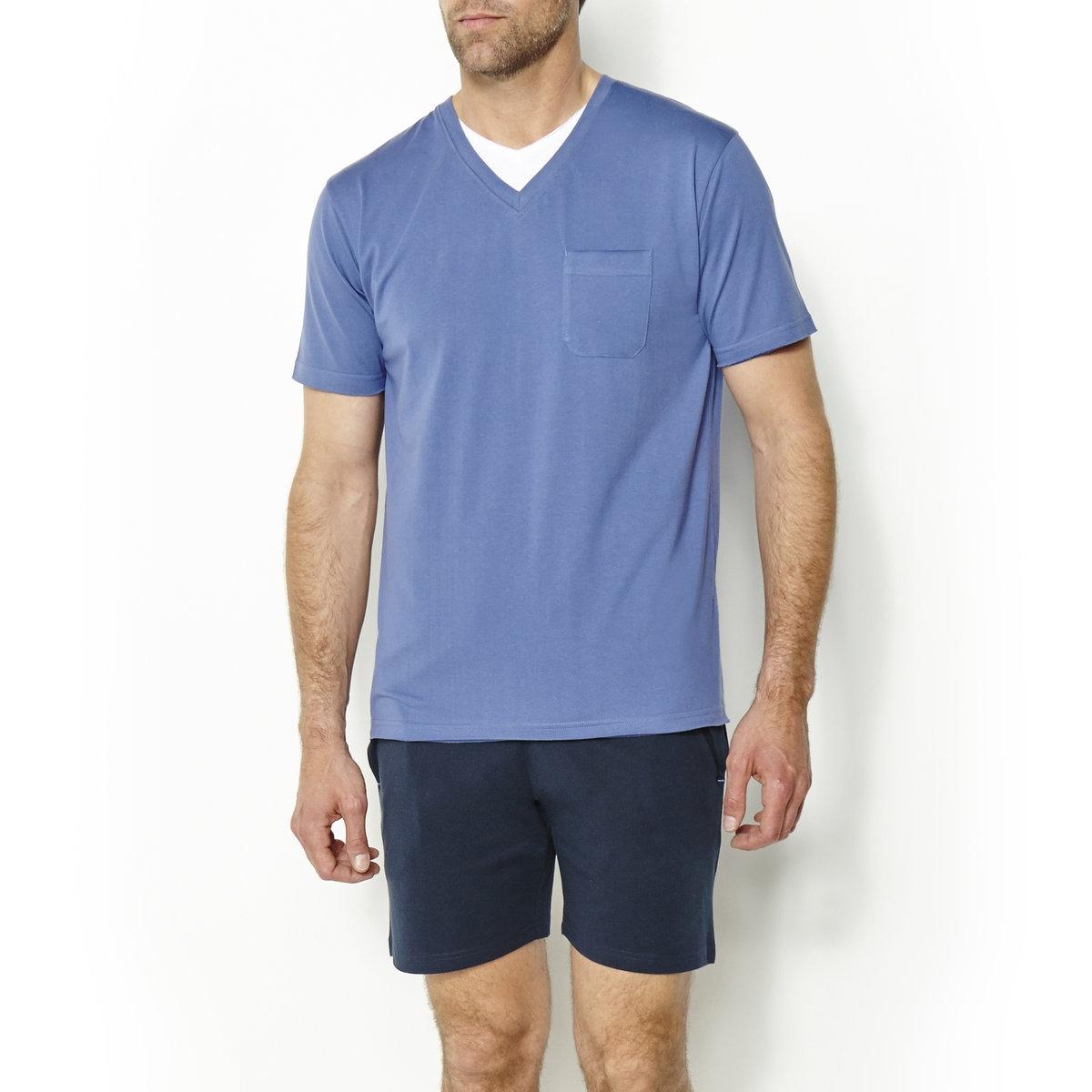 Пижама из джерси*Международный знак Oeko-Tex гарантирует отсутствие вредных или раздражающих кожу веществ<br><br>Цвет: синий/темно-синий<br>Размер: 66/68