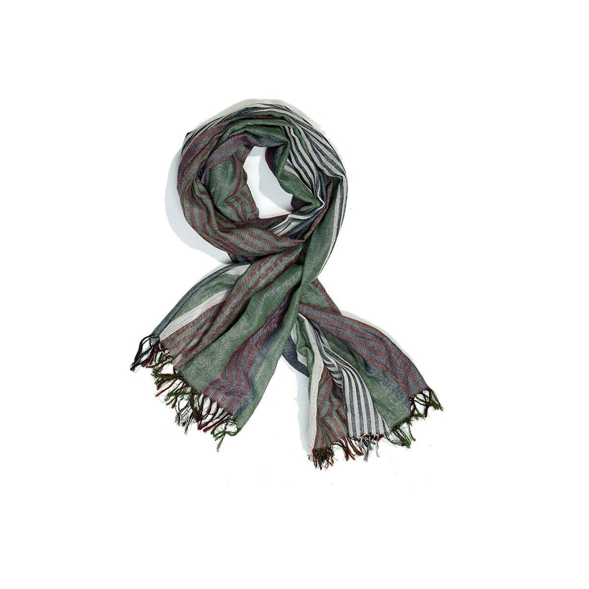 Foulard coloré à franges