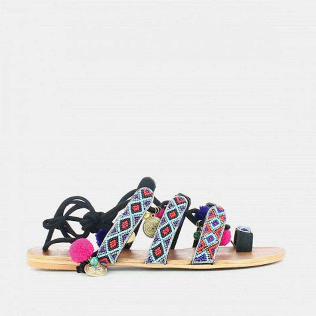 Босоножки на плоском каблуке Jalo цены онлайн