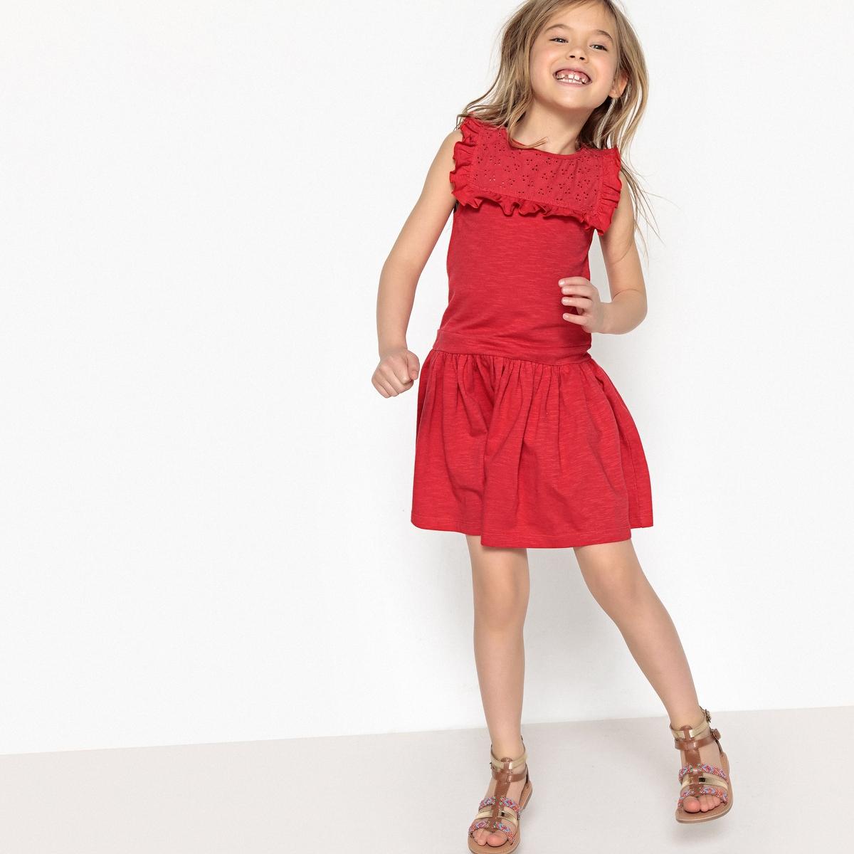 Платье с вышивкой 3-12 лет футболка с вышивкой и воланами 3 12 лет