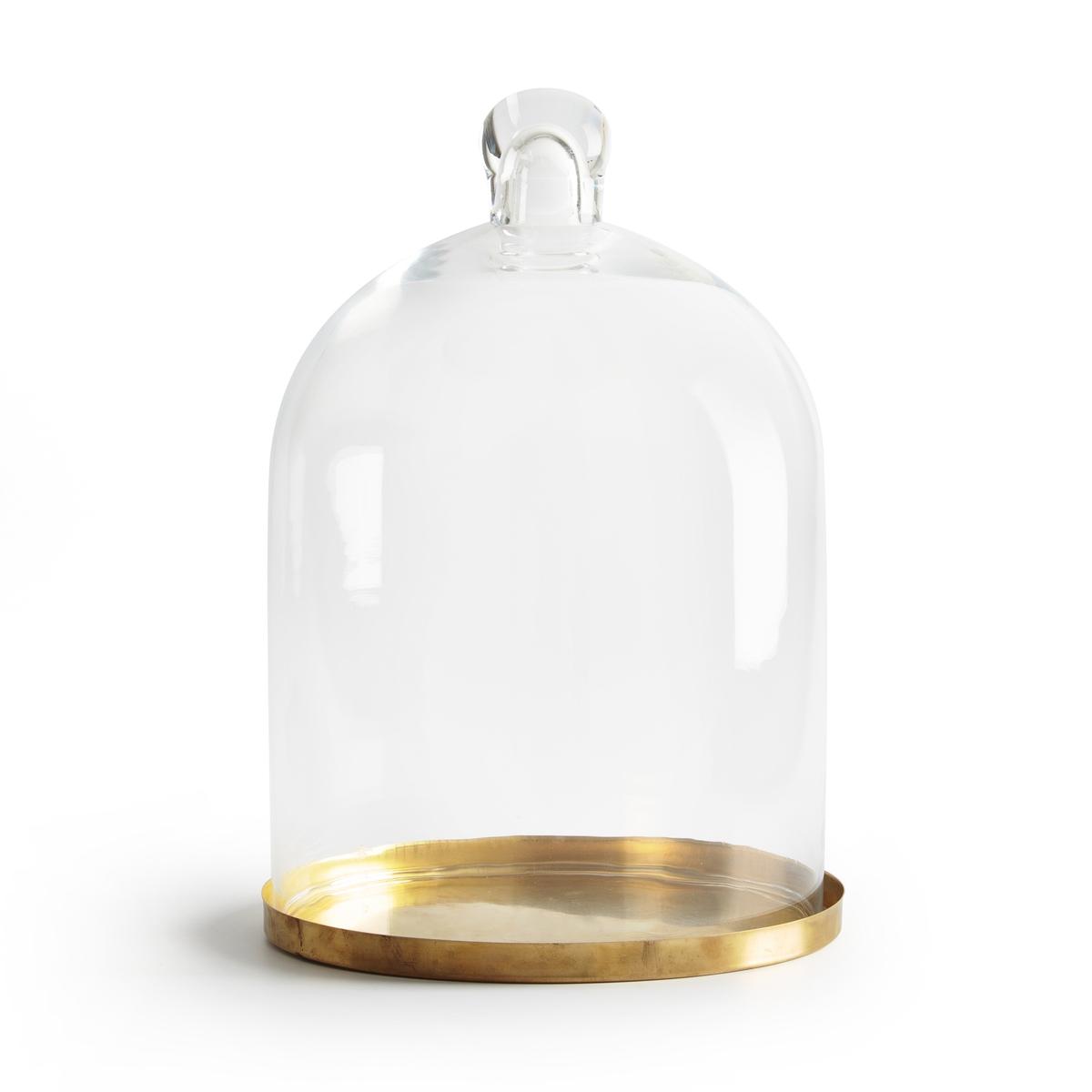 Campana in vetro e ottone A30 cm sulla base TANEMIRTE