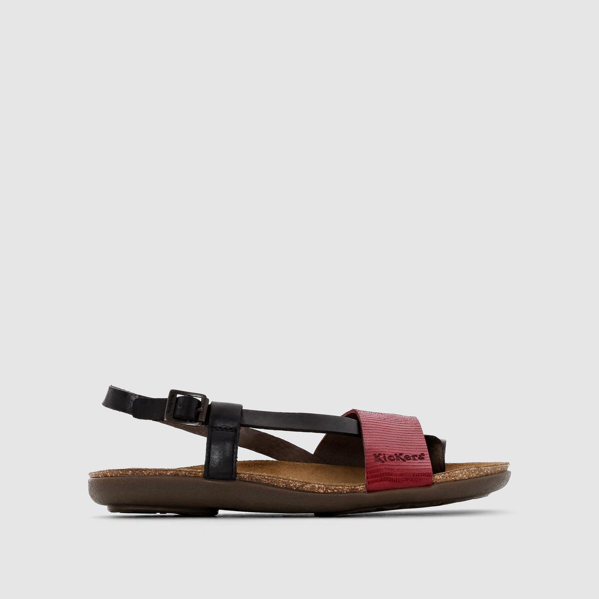 Сандалии кожаные на плоской подошве Alchimy сандалии velvet сандалии на обычной подошве