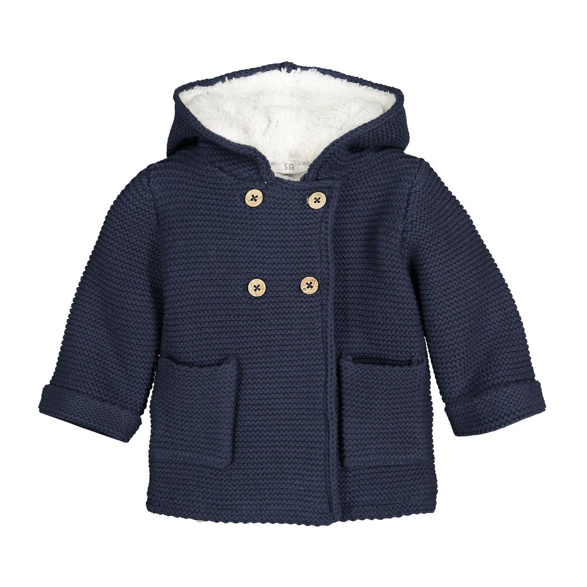 Куртка La Redoute С капюшоном на подкладке из флиса месяцев- года 0 мес. - 50 см синий куртка la redoute в горошек на подкладке из флиса мес года 1 мес 54 см синий