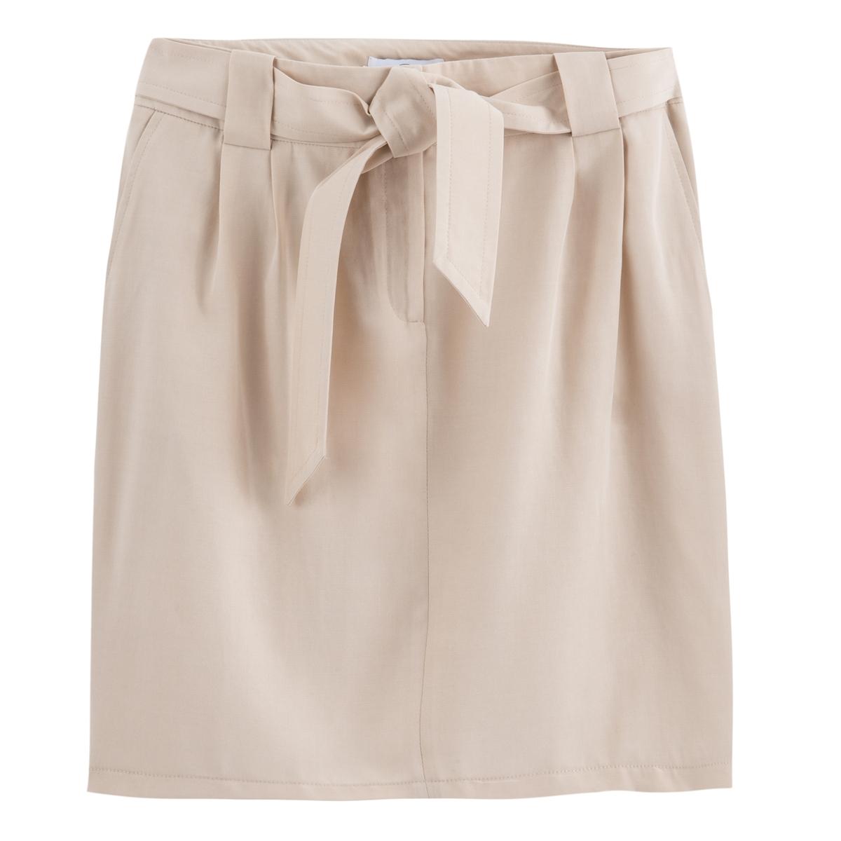 Falda recta de Lyocell, semilarga