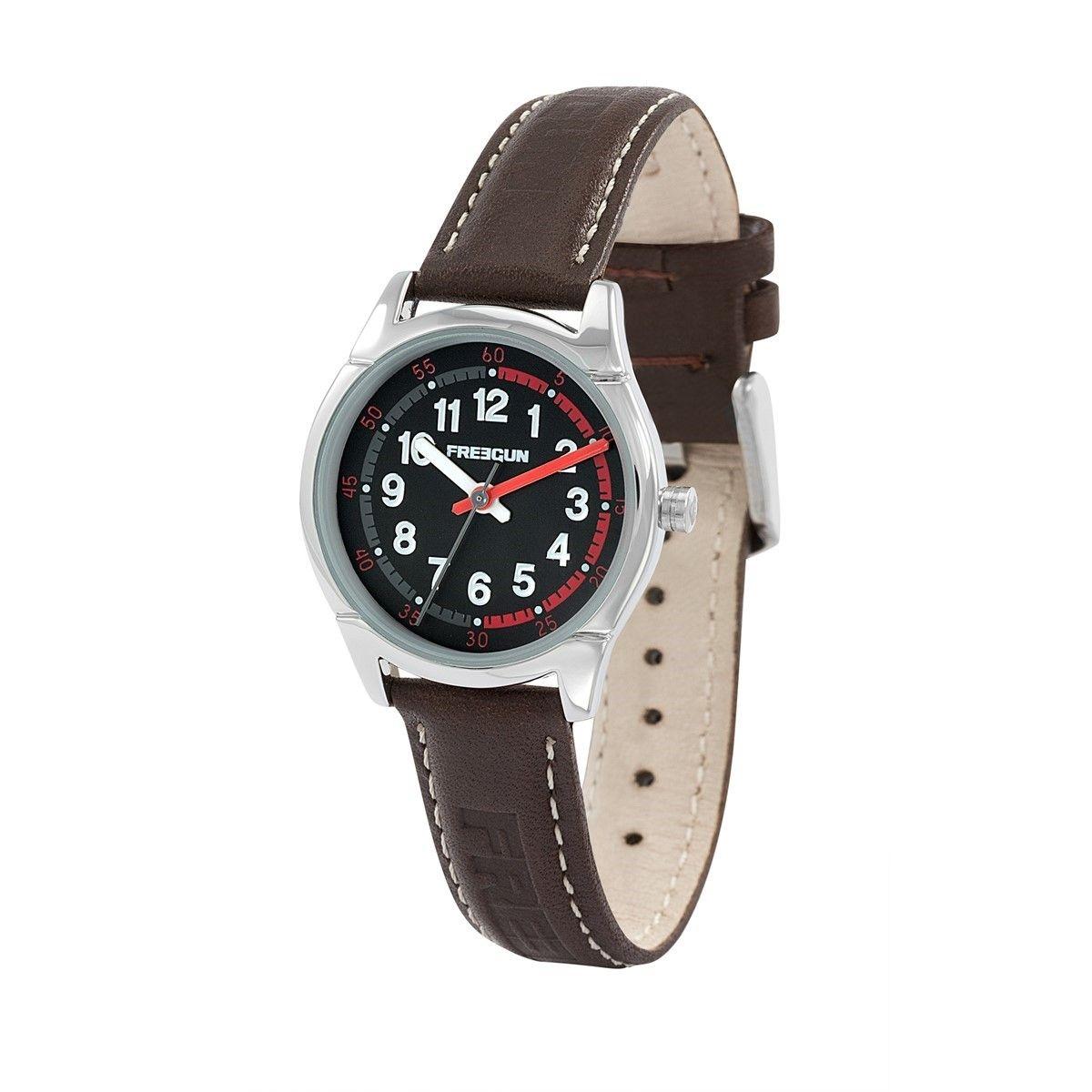 Montre garçon analogique bracelet cuir boitier 29 mm Varial